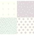 set 4 hand drawn cute seamless patterns vector image vector image
