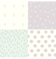 Set of 4 hand drawn cute seamless patterns vector image vector image
