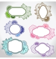 Set of different vintage frames vector image vector image