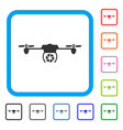 shutter spy airdrone framed icon vector image vector image