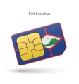 Sint Eustatius mobile phone sim card with flag vector image vector image
