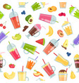 smoothie seamless pattern summer vector image vector image