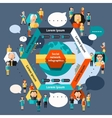 Social Network Infographics vector image vector image