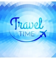 summer travel design blurred pixelate sea beach vector image vector image