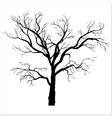 winter tree silhouette vector image vector image