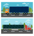 Cargo Transportation Truck and Trailer Delivery vector image