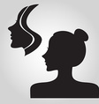 Woman logo silhouette vector image