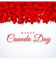 canada day background with maple leafs vector image