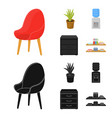 a red chair with a comfortable back an aloe vector image vector image