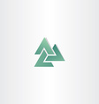abstract business green triangle logo element vector image vector image