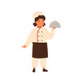 adorable children little chef cute girl in vector image vector image