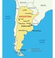 Argentine Republic Argentina - map vector image