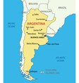 Argentine Republic Argentina - map vector image vector image