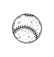 baseball equipment engraving vector image vector image