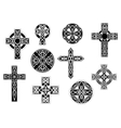 Black and white decorative Christian crosses vector image vector image