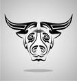 Buffalo Head Tribal vector image vector image