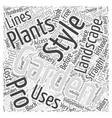 BW landscaping your garden Word Cloud Concept vector image vector image