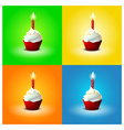 Cake for Birthday on different backgrounds EPS 10 vector image