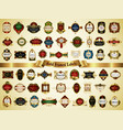 collection of colorful gold-framed labels vector image vector image