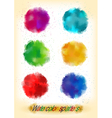 Colorful watercolor splatters vector image vector image