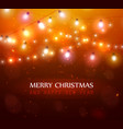 colourful glowing christmas orange lights vector image vector image
