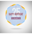 Congratulatory badge for the twenty-five years vector image vector image