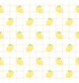 cute lemon seamless pattern background vector image vector image