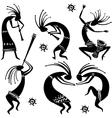 dancing figures vector image vector image