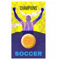 Digital abstract winner sportman champions vector image