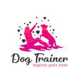 dog training logo design template vector image vector image