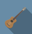 flat design modern acoustic guitar icon music vector image