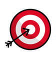 flat line icon arrow hitting a target vector image