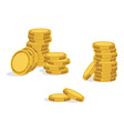 Golden coins icon vector image