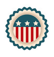 happy independence day american flag badge emblem vector image vector image