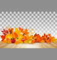 happy thanksgiving background with colorful fruit vector image vector image