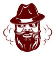 hipster face with mustache vector image vector image