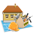 House Repair Project vector image