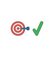 icon concept bulls eye with dart in center vector image vector image