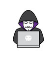 icon of hacker vector image