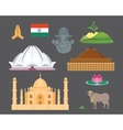 India travel icons vector image vector image