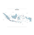 indonesia map with red pin vector image