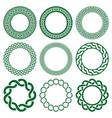 irish celtic mandala frame set green vector image vector image