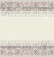 lace frame on luxury floral ornament vector image vector image