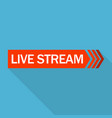 live stream logo flat style vector image