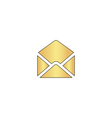 mail computer symbol vector image vector image