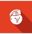 Maroon Military Red Beret of Russian Army Special vector image