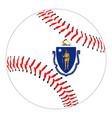 massachusetts flag baseball vector image vector image