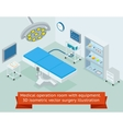 Medical operation room with equipment 3D vector image