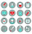 medicine flat icons set vector image