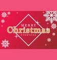 merrry christmas everyone vector image